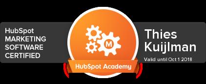 hubspot certificering